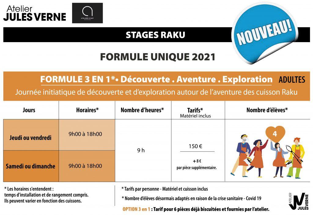 STAGE RAKU-Nouvelle formule 3 en 1-Atelier Jules Verne - Florence Lemiegre